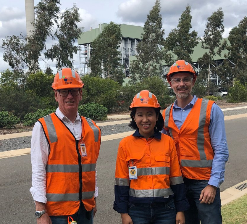 Brendan Worrall, Auditor-General, Noreen Romero and Damon Olive visiting Kogan Creek on an audit.
