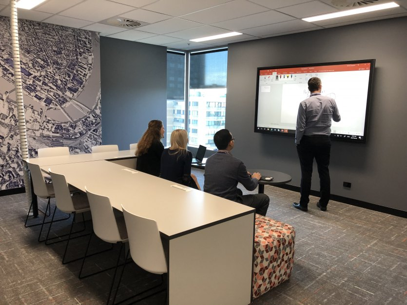 Audit planning, level 14 'scrum room', QAO, Brisbane.