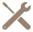 Wrench and screwdriver icons
