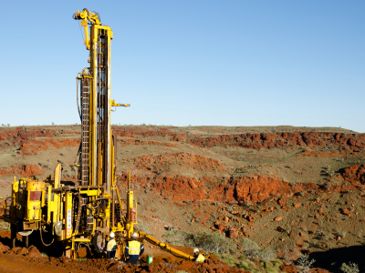 Image of exploration drilling