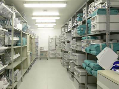 image showing stock room in a hospital