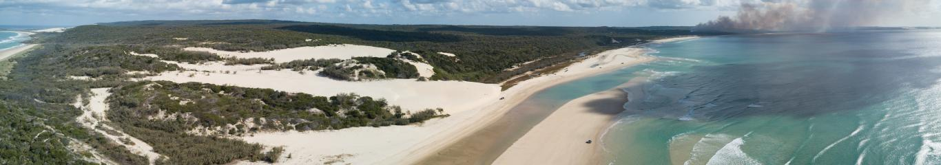 Fraser Island view from the sky