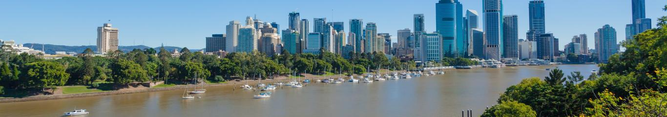 Brisbane river view of city