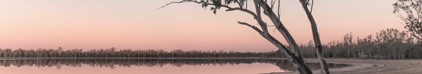Lake Broadwater in Dalby at Sunset